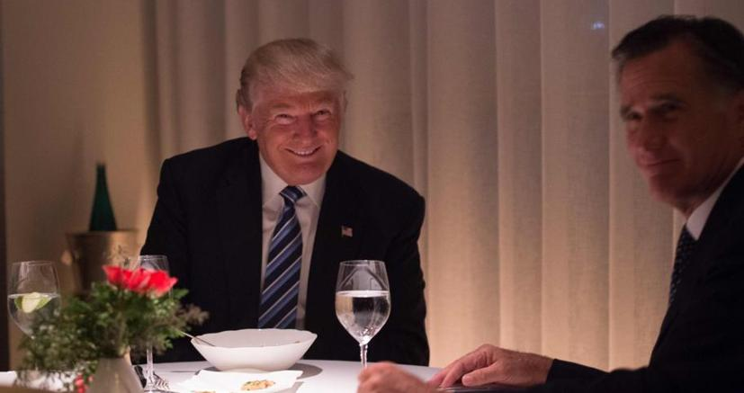 Donald Trump a cena con Mitt Romney